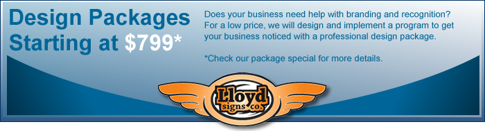 Lloyd Signs, Logo and Web Design, in the Triad area of NC